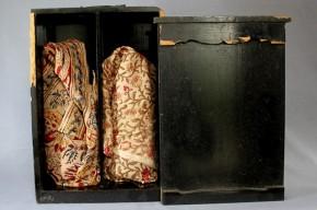 江戸紫徳利.透明徳利 2本   18世紀後半
