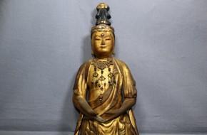 木彫漆箔勢至観音菩薩立像(1-1)   鎌倉~南北朝時代