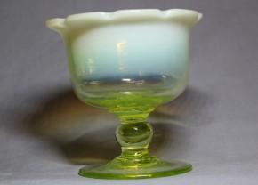八輪花碗型ウラン氷コップ  明治時代  本物保証