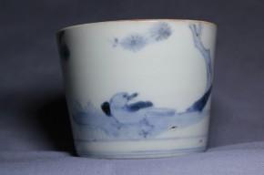 古伊万里鳥巣籠もり図蕎麦猪口(145-2)  江戸時代後期