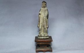 金銅製神像   平安~鎌倉時代 台付き