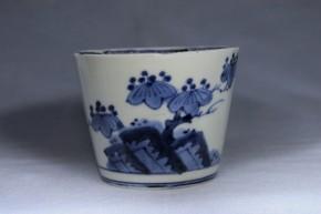 古伊万里岩桐文文蕎麦猪口(235-3)   江戸時代後期   本物保証