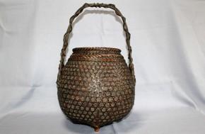 唐物三足付立竹籠  清朝時代