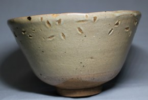 古唐津無地釉茶碗   江戸時代前期