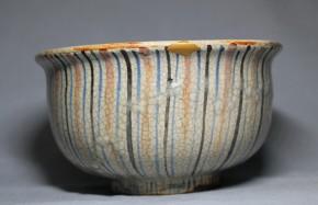 瀬戸麦藁手抹茶碗   江戸時代後期