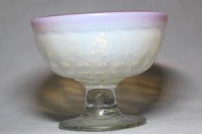型吹格子文碗型氷コップ   明治~大正時代  本物保証