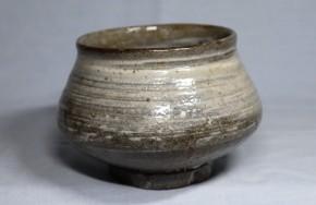刷毛目唐津塩笥茶碗(1-1)   桃山~江戸時代初期   時代箱入り