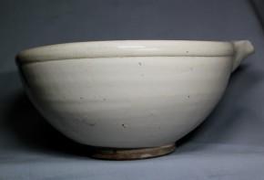 平清水焼白釉片口   江戸時代後期