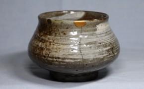 刷毛目唐津塩笥茶碗(1)   桃山~江戸時代初期   時代箱入り
