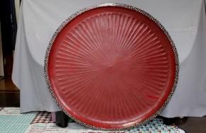 大きな藤原盆   江戸時代   螺鈿・赤黒漆  大珍品