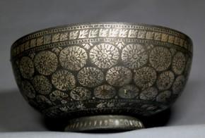 李朝銅製銀象嵌小鉢(1)  李朝時代中期