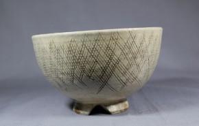 金海猫掻手茶碗   江戸時代中期