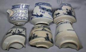 初期伊万里茶碗破片(18)   6点   江戸時代初期