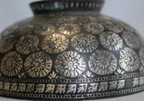 李朝銅製銀象嵌小鉢(2)  李朝時代中期