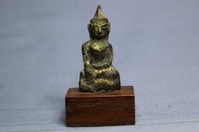 中国金銅釈迦如来小像   明~清朝時代