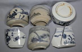 初期伊万里茶碗破片(19)   6点   江戸時代初期