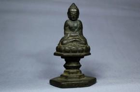中国金銅釈迦如来小像   清朝時代