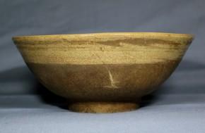 中国灰釉刷毛目茶碗   明時代