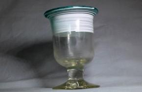 千段巻ベル型氷コップ  明治~大正時代  本物保証