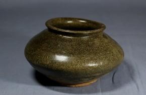 黒高麗塩笥小壺   李朝時代前期