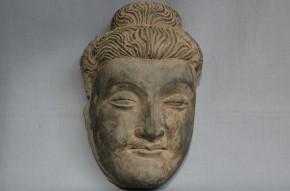 ガンダーラ仏黒色片岩製菩薩仏頭    BC1~2世紀頃