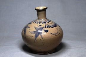 李朝染付乳瓶   李朝時代後期