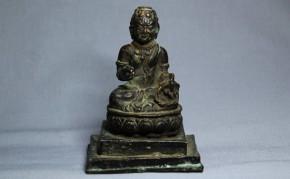 チベットの不動明王(?)坐像   清朝時代