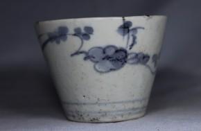 古伊万里梅花文蕎麦猪口(259)  初期手   江戸時代中期