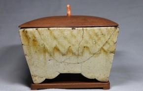 御深井焼長方形四足香炉   江戸時代初期~前期   箱・蓋・台は誂え品