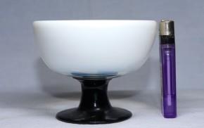 乳白暈し黒足氷コップ(4)   大正時代~昭和時代  本物保証