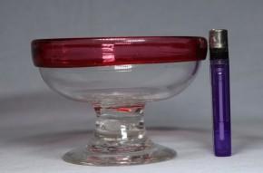 金赤巻縁透明氷コップ   大正時代  本物保証