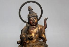 厨子入木彫漆箔如意輪観音坐像(2)  江戸時代