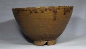 九州系鉄釉茶碗   江戸時代前期~中期   時代箱入り