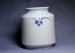 李朝分院染付草文薬瓶(1)   李朝時代後期
