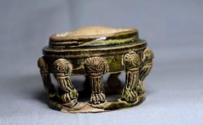 円形彩色多足硯(1)   中国唐時代