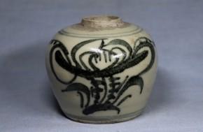中国染付花文壺(2)   清朝時代