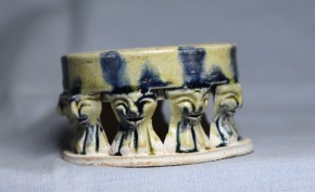 円形彩色多足硯(2)   中国唐時代