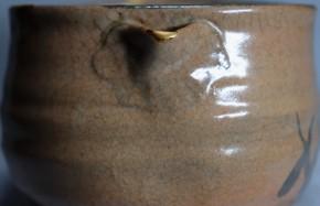 絵唐津片口茶碗(1-1)   江戸時代中期~後期  時代箱入り
