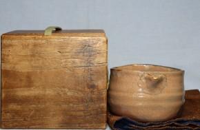 絵唐津片口茶碗(1)   江戸時代中期~後期  時代箱入り