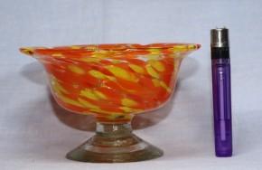五輪花碗型色吹雪文氷コップ   明治~大正時代   本物保証