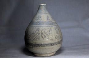 スンコロク鉄絵花交叉斜線文徳利   15~16世紀