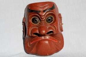 浄法寺塗の剣舞面   江戸時代前期~中期