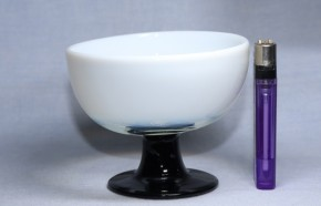 乳白暈し黒足氷コップ(5)   大正時代~昭和時代  本物保証