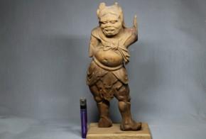 木彫天燈鬼像(1)   鎌倉時代