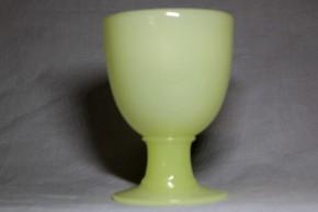 乳黄色ウランなつめ型氷コップ  大正時代  本物保証