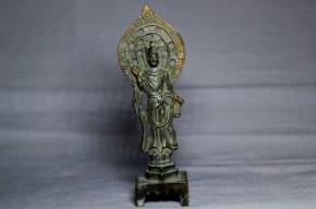 中国鍍金如来立像(火中仏か)   唐時代(7世紀)