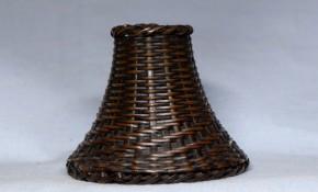 銅製竹籠形容器   江戸時代