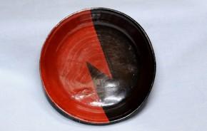 赤黒塗分小皿(平盃)3   江戸時代