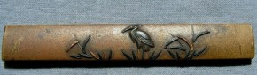 鷺・水草図小柄(2)   江戸時代