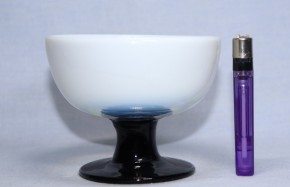 乳白暈し黒足氷コップ(6)   大正時代~昭和時代  本物保証